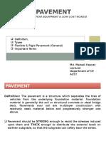 1. Basics of Pavement, MMH