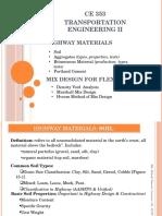 Highway Materials & Mix Design Ppt. Mmh
