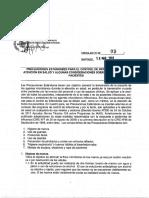 CIRCULAR C13-09 Precauciones Estándares Para El Control IAAS y Aislamiento de Pacientes – MINSAL Chile 2013