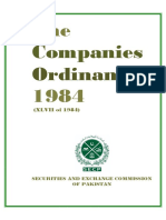 Companies Ordinance 1984 (Amended)