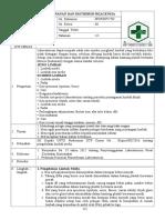 e.p 8.1.5.3 Sop Penyimpanan Dan Distribusi Reagensia