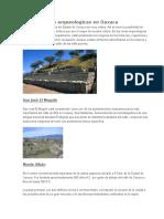 Sitios y Zonas Arqueologicas en Oaxaca