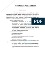Lei Anticorrupção Brasileira - Resumo
