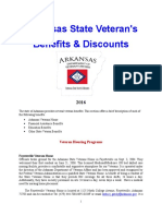 Vet State Benefits & Discounts - AR 2016