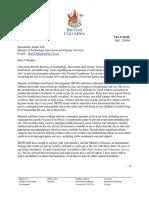 Stephanie Cadieux letter to Amrik Virk