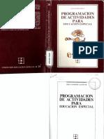 Programacion de Actividades Educacion Especial
