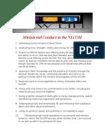 NLCOM Ministerial Duties