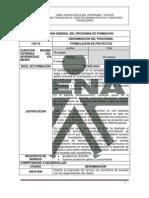 Tg en Formulacion de Proyectos Cod. 122119