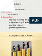 Aumento Del Capital Finalizado