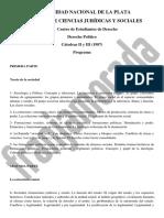 Programa Derecho Politico Catedras II y III
