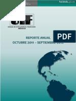Reporte Anual UIF Oct 2011Sep 2012