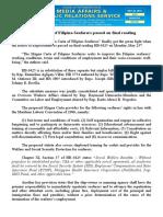 may28.2016Magna Carta of Filipino Seafarers passed on final reading