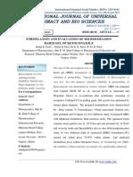 Formulation and Evaluation of Microemulsion Based Gel of Ketoconazole