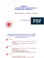 Bases de Datos en Servicios Telematicos de Informacion y Reservas