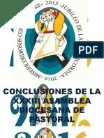 Conclusiones Asamblea Diocesana 2016