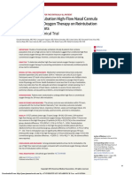 High-Flow Nasal Cannula Oxygen Therapy in Adults