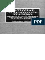 National Schools of Singing - Richard Miller