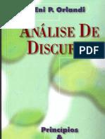 Livro - OrLANDI, Eni P. - Análise Do Discurso - Princípios & Procedimentos