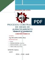 Procesos Constructivos de Obras de Almacenamiento