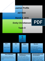 team d learning  profiles