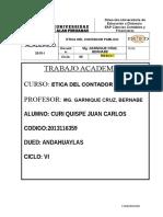 2015-1 Etica Del Contador Publico