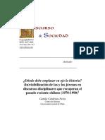¿Dónde debe emplazar su ojo la historia? (In)visibilización de las y los jóvenes en discursos disciplinares que recuperan el pasado reciente chileno (1970-1990).