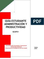 Guía Del Estudiante Administración de La Productividad