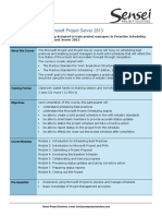 TEMAS Proactive PPM With Microsoft Project Server 2013 Course Outline