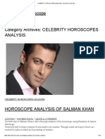 Celebrity Horoscopes Analysis _ the Vedic Horoscope