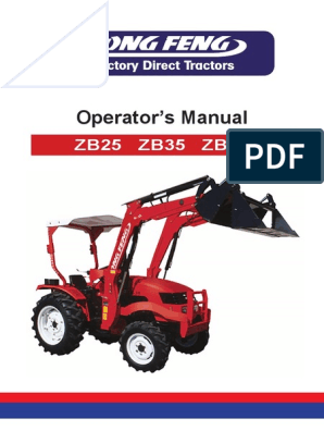 Dongfeng Zb25!35!45 Operator Manual | Tractor | Loader