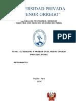 El Derecho a Probar en El Nuevo Código Procesal Penal
