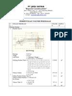 contoh Perhitungan Volume Galian