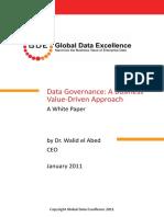 Data Governance a Business Value-Driven Approach