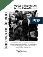 Internacional Situacionista - Sobre La Miseria en El Medio Estudiantil (Media Carta - Lectura)
