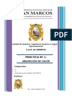 Informe 01 Quimica General a II