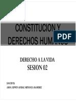 Sesion II Derecho a La Vida