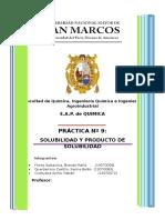 Informe 05 Química General A II
