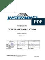 P-InSER-036 Procedimiento Escrito Para Trabajo Seguro v1