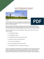 Relocation Survey Definition