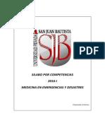 Silabo Medicina de Emergencias y Desastres 2016-i