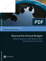 Banco Mundial 2012 Global Experience With Medium Term Expenditure Frameworks
