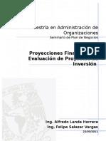 Proyecciones Financieras y Evaluacion Del Proyecto de Inversic3b3n