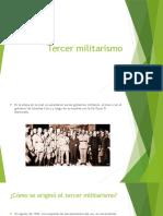 Tercer militarismo