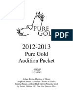 AHS Pure Gold Audition Packet 2012