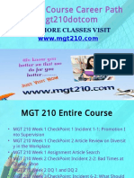 MGT 210 Course Career Path Begins Mgt210dotcom