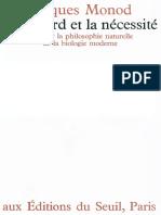 Le Le Hasard Et La Nécessité_Jacques Monod