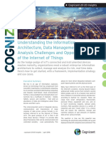 Understanding the Information Architecture, Data Management, and Analysis Challenges and Opportunities of the Internet of Things