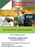 CJS 210 HELP Inspiring Minds - Cjs210help.com