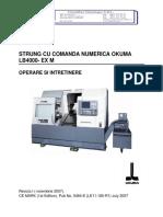 OKUMA LB4000 EX M - Manual de Operare Si Intretinere (Rev I - Nov