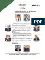 "SEMINAR ""Economia românească. Evoluții, perspective, soluții."" Mamaia, 9-10 iunie 2016, Hotel Scapino"